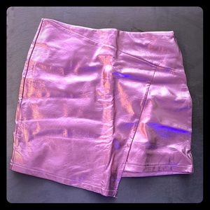 Neon Metallic Pink forever 21 skirt M